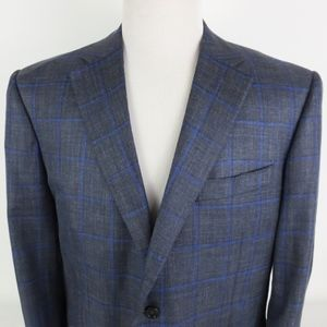 Canali 46R 2 Button Sport Coat Wool Silk Linen